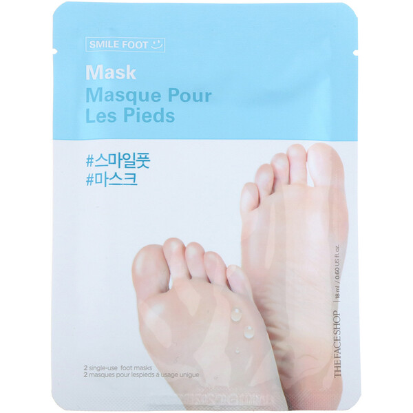 The Face Shop, Smile Foot Mask, 2 Single-Use Foot Masks