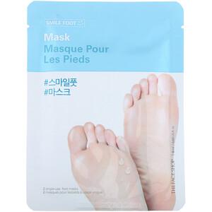 Зе Фасе Шоп, Smile Foot Mask, 2 Single-Use Foot Masks отзывы покупателей