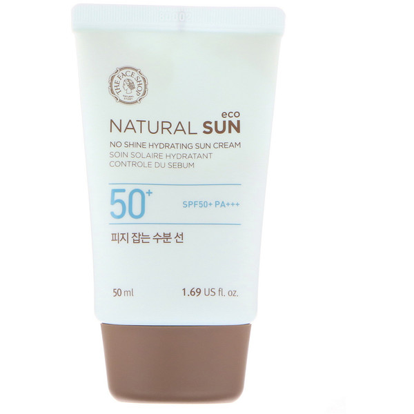 The Face Shop, Natural Sun Eco, No Shine Hydrating Sun Cream, SPF 50+ PA+++, 1.69 fl oz (50 ml) (Discontinued Item)