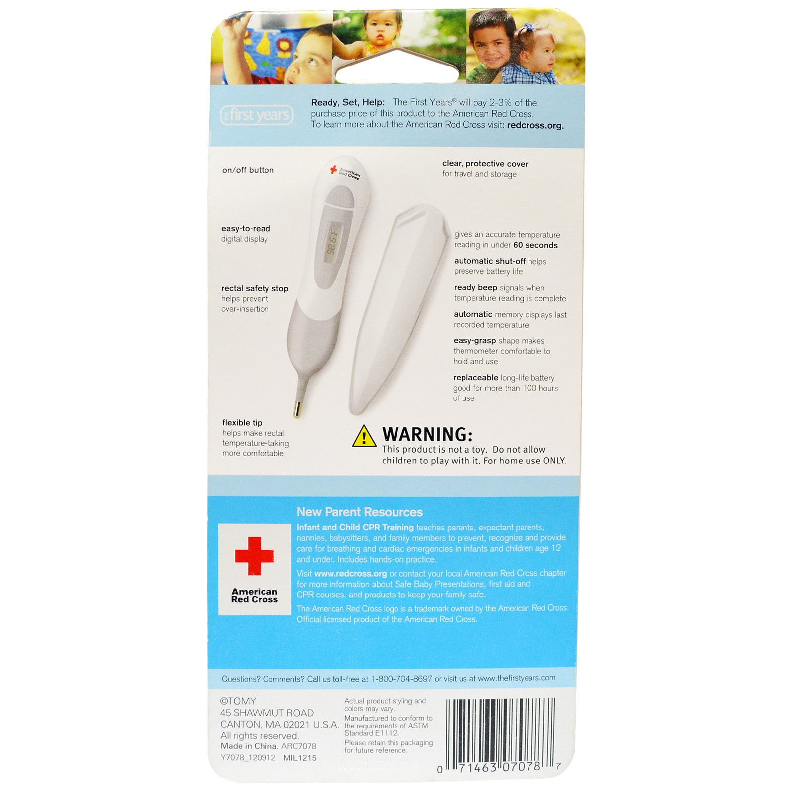The First Years American Red Cross Multi Use Digital Thermometer