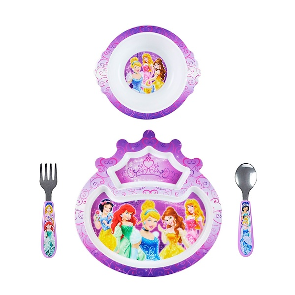 The First Years, Disney Princess, Feeding Set, 9+ Months, 4 Pieces (Discontinued Item)