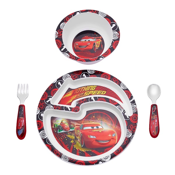 The First Years, Disney Cars, Feeding Set, 9+m, 4 Pieces (Discontinued Item)