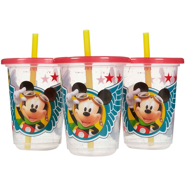 The First Years, Disney Mickey Mouse, Take & Toss Straw Cups, 3 Pack - 10 oz (296 ml) (Discontinued Item)