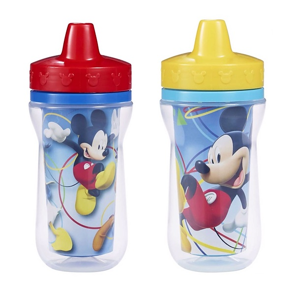 The First Years, Disney Mickey Mouse, Insulated Sippy Cups, 9+ Months, 2 Pack - 9 oz (266 ml) (Discontinued Item)