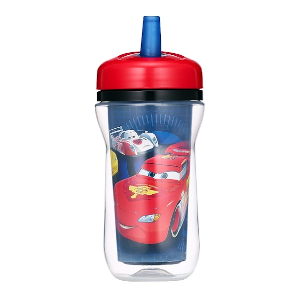 The First Years, Disney Pixar Cars, Insulated Straw Cup, 18+ Months,  9 oz (270 ml) (Discontinued Item)