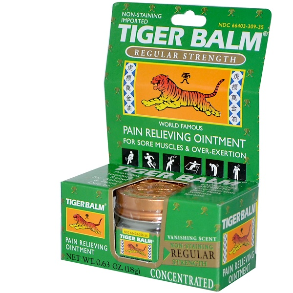 Tiger Balm, Pain Relieving Ointment, 0.63 oz (18 g) (Discontinued Item)
