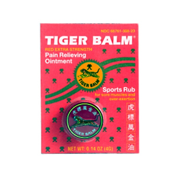 Tiger Balm, Red Extra Strength Pain Relieving Ointment, 0.14 oz (4 g) (Discontinued Item)