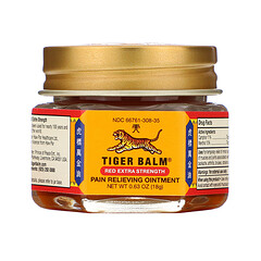 Tiger Balm, Pain Relieving Ointment, Extra Strength, 0.63 oz (18 g)