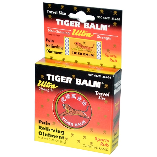 Tiger Balm, Pain Relieving Ointment, Ultra Strength, 0.28 oz (8 g) (Discontinued Item)
