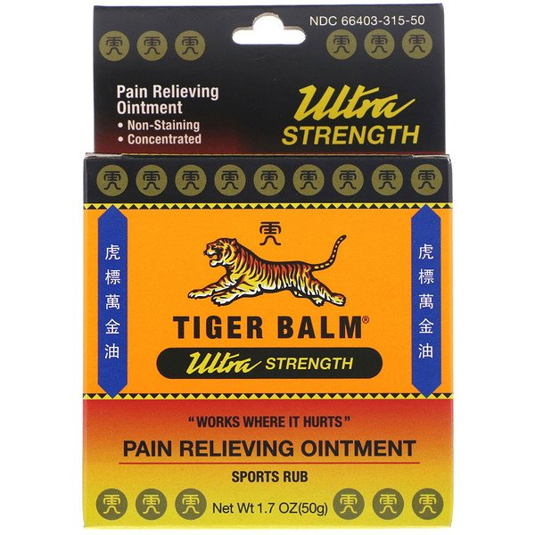 Tiger Balm, Pain Relieving Ointment, Ultra Strength, 1.7 oz (50 g)