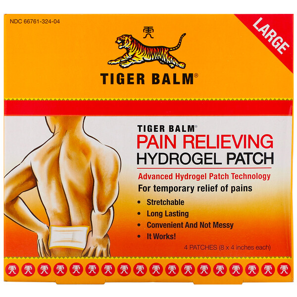 Pain Relieving Patch, Large, 4 Adesivos (8 x 4 pol. Cada)