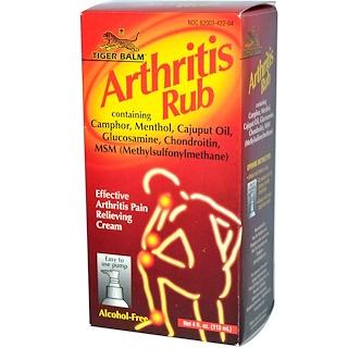 Tiger Balm, Arthritis Rub, Alcohol-Free, 4 fl oz (113 ml)
