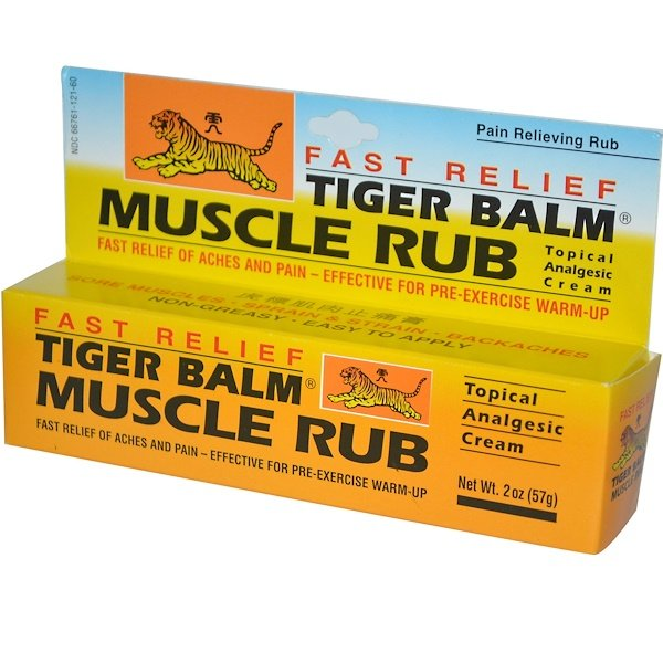 Tiger Balm, Fast Relief Muscle Rub, Topical Analgesic Cream, 2 oz (57 g) (Discontinued Item)