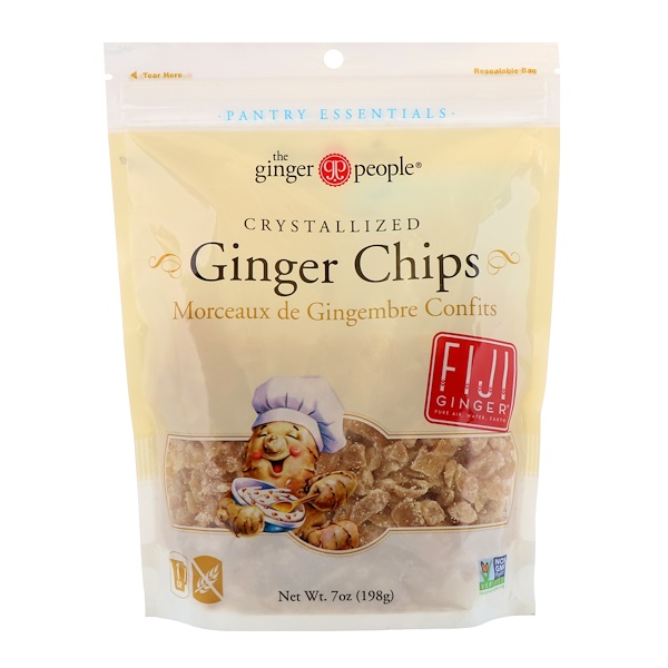 The Ginger People, Crystallized Ginger Chips, 7 oz (198 g) (Discontinued Item)