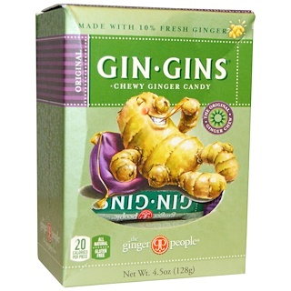 The Ginger People, Gin · Gins, Chewy Ginger Candy, 4.5 oz (128 g)