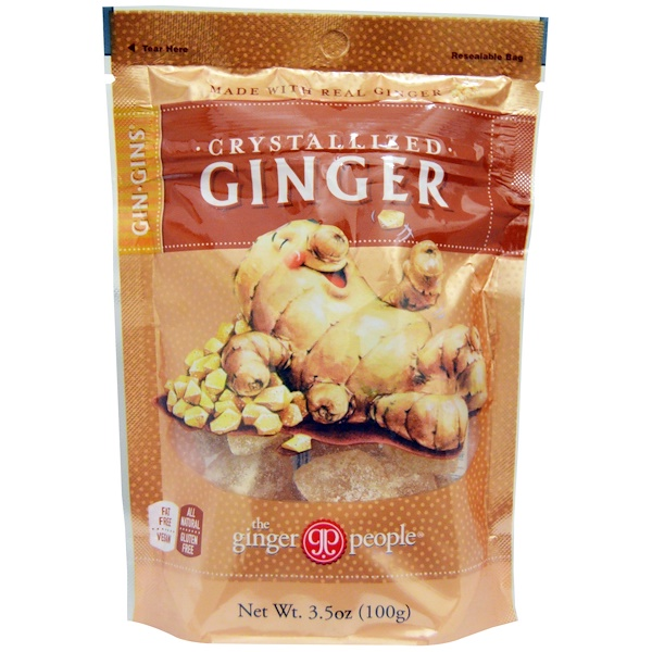 The Ginger People, Gin·Gins, Crystallized Ginger, 3.5 oz (100 g)