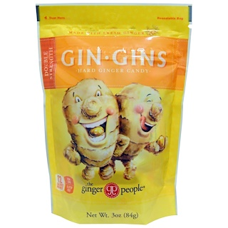 The Ginger People, Gin·Gins, Hard Ginger Candy, Double Strength, 3 oz (84 g)