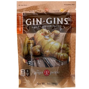 Зе Джинджэр Пипл, Gin Gins, Chewy Ginger Candy, Hot Coffee, 3 oz (84 g) отзывы покупателей