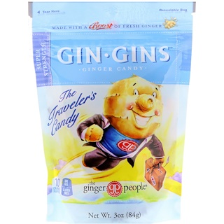 The Ginger People, Gin Gins, caramelo de jengibre, súper fuerza, 3 oz (84 g)