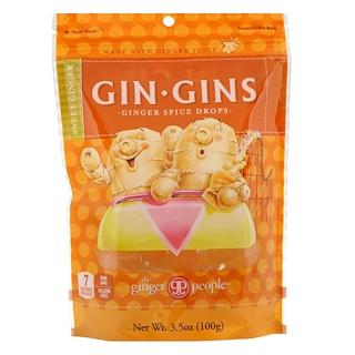 The Ginger People, Gin Gins, gotas de jengibre y especias, jengibre dulce, 3.5 oz (100 g)