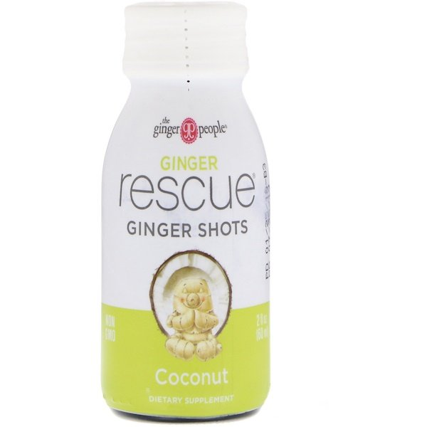 The Ginger People, Ginger Rescue Shots, Coconut, 2 fl oz (60 ml)