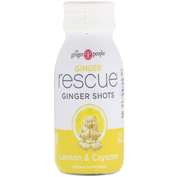 :The Ginger People, Ginger Rescue Shots, Lemon & Cayenne, 2 fl oz (60 ml)