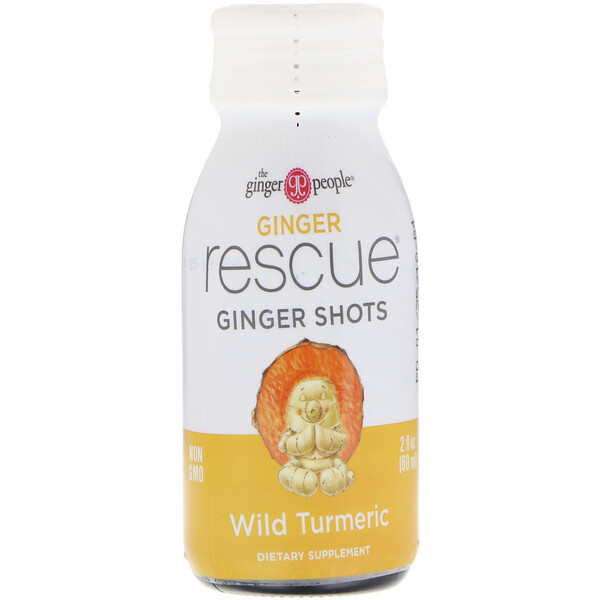 Ginger Rescue Shots, Wild Turmeric, 2 fl oz (60 ml)