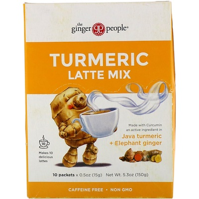 The Ginger People Turmeric Latte Mix, 10 packets, 05 oz (15 g) Each