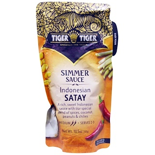 Tiger Tiger, صلصة  الساتيه الأندونسيه ١.٠٥ أونصه (٣٠٠ غرام )