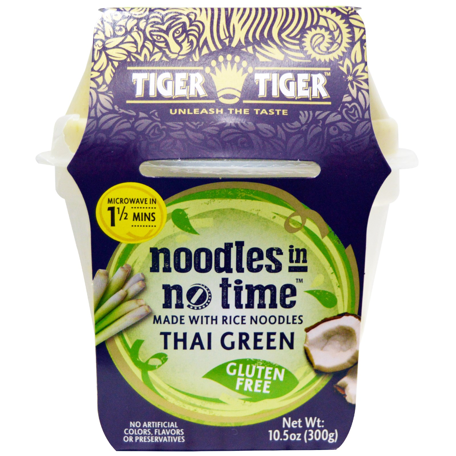 official photos 61b4d 49336 Tiger Tiger, Noodles in No Time, Rice Noodles with Thai Green Curry, 10.5  oz (300 g) (Discontinued Item)