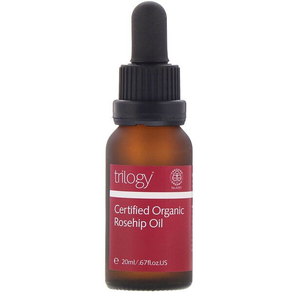 Trilogy, Certified Organic Rosehip Oil, 0.67 fl oz (20 ml)