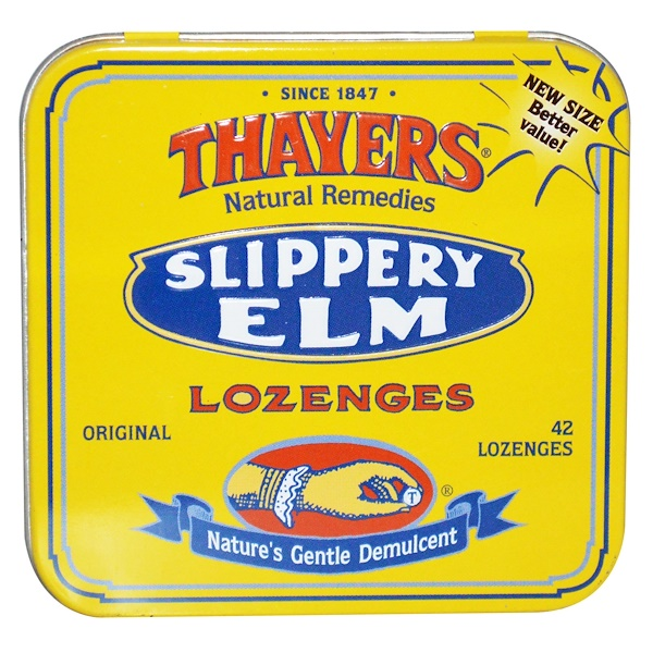 Thayers, Slippery Elm Lozenges, 42 Lozenges (Discontinued Item)