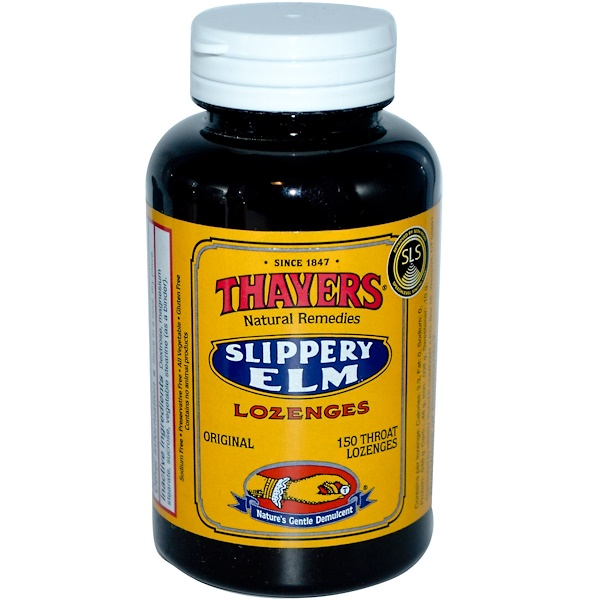 Thayers, Slippery Elm Lozenges, 150 Throat Lozenges (Discontinued Item)