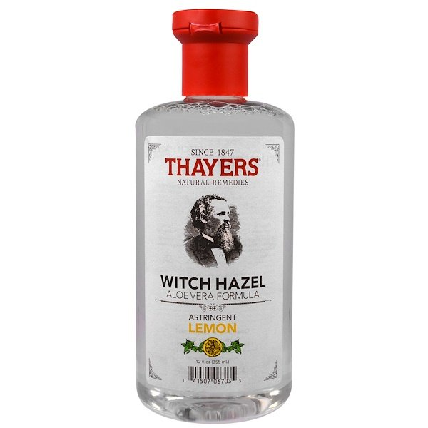 Thayers, Witch Hazel, Aloe Vera Formula, Astringent Lemon, 12 fl oz (355 ml)
