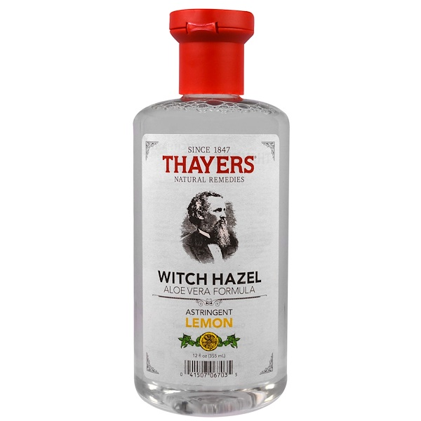 Thayers, Witch Hazel, Aloe Vera Formula, Astringent Lemon, 12 fl oz (355 ml) (Discontinued Item)