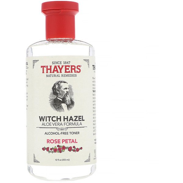 Thayers, Witch Hazel, Aloe Vera Formula, Alcohol-Free Toner, Rose Petal, 12 fl oz (355 ml)