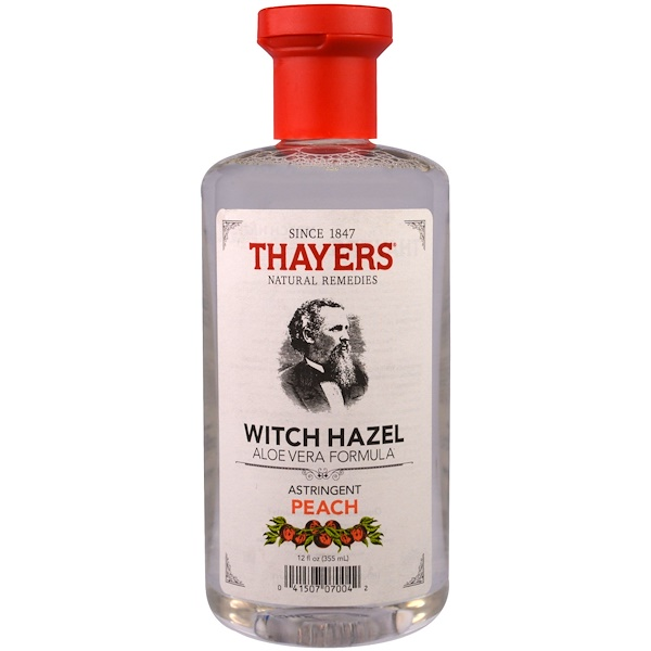 Thayers, Witch Hazel, Aloe Vera Formula, Peach, 12 fl oz (355 ml) (Discontinued Item)