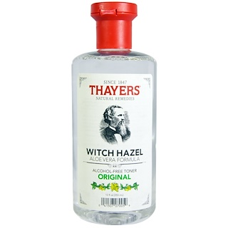 Thayers, Hamamelis, Fórmula de aloe vera, Original, Tonificador sin alcohol, 12 fl oz (355 ml)