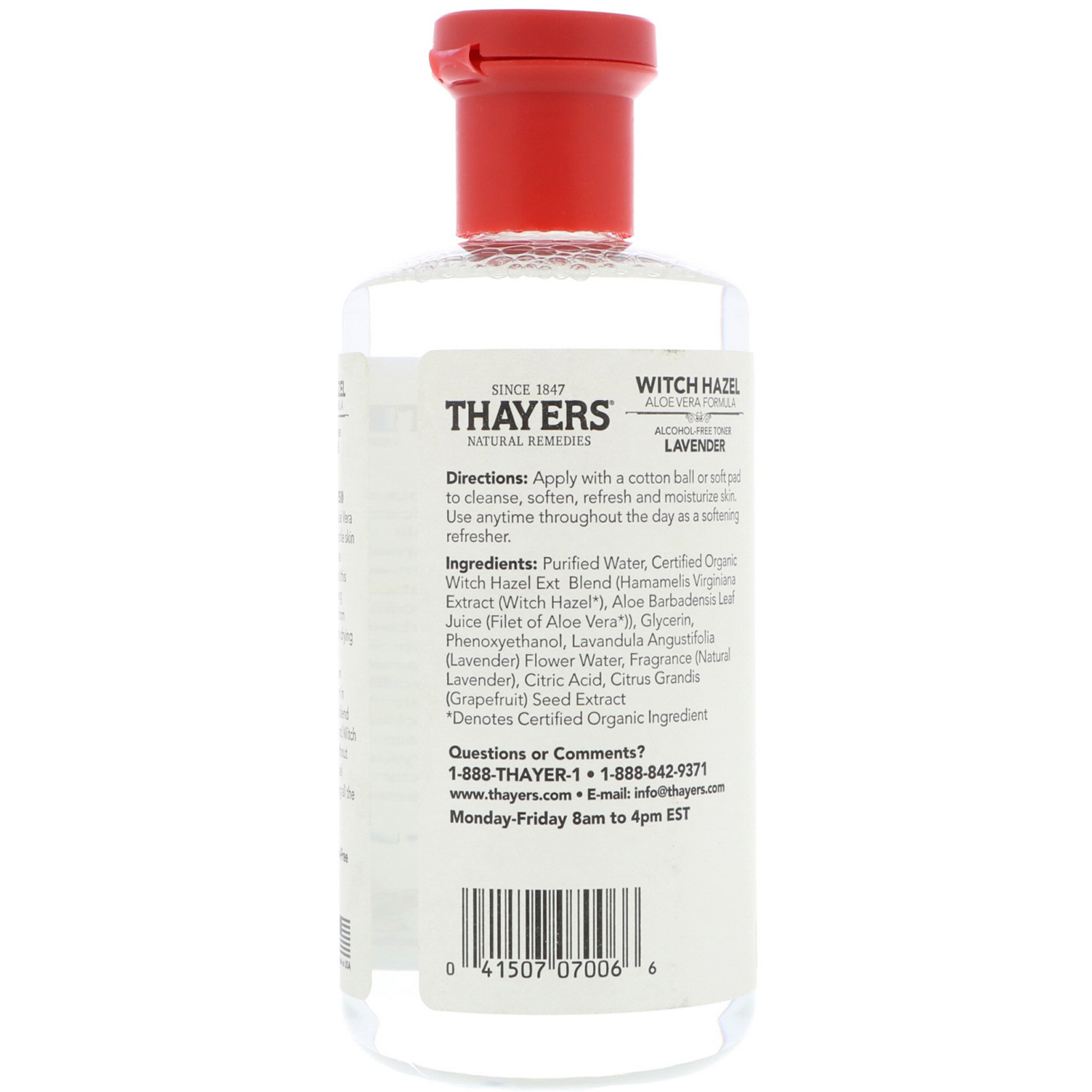 Thayers Witch Hazel Aloe Vera Formula Alcohol Free Toner Secret Key Fresh 248ml Click To Zoom