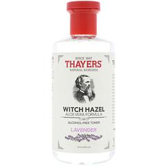 Thayers, Witch Hazel, Aloe Vera Formula, Alcohol Free Toner, Lavender, 12 fl oz (355 ml)
