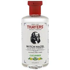 Thayers, Witch Hazel, Aloe Vera Formula, Alcohol Free Toner, Cucumber, 12 fl oz (355 ml)
