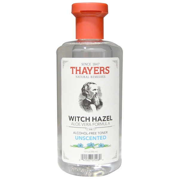 Thayers, Tónico de Hamamelis con Aloe Vera Sin Fragancia ni Alcohol, 12 fl oz (355 ml)