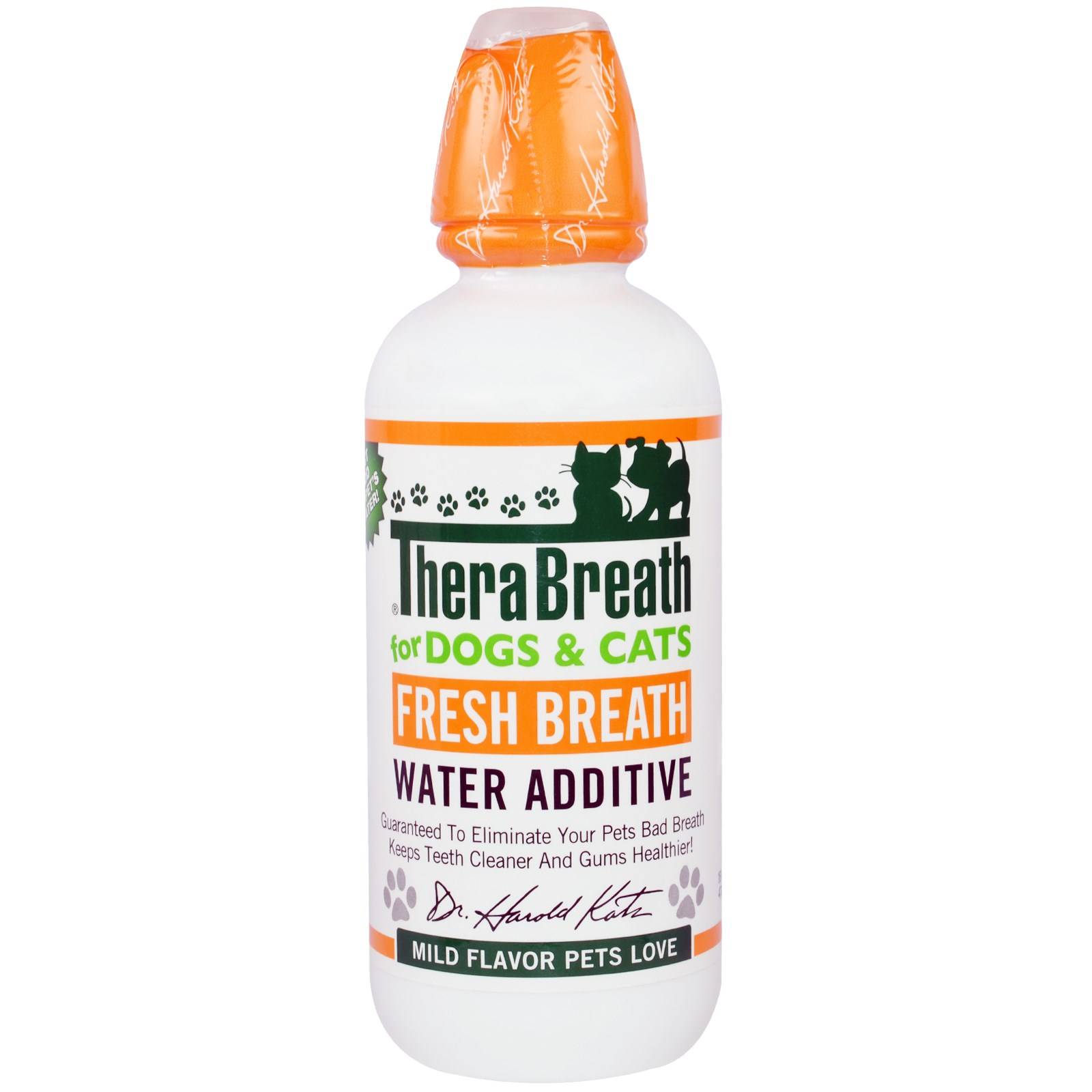 TheraBreath, Fresh Breath Water Additive, For Dogs and Cats, Mild Flavor,  16 fl oz (473 ml)