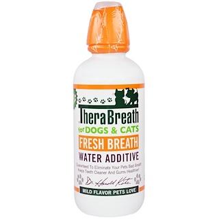"""TheraBreath, Добавка для воды """"Свежее дыхание"""", для собак и кошек, умеренный аромат, 16 жид. унций (473 мл)"""