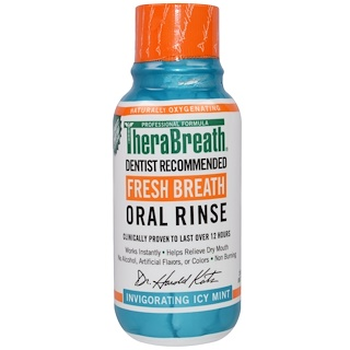TheraBreath, Fresh Breath Oral Rinse, Invigorating Icy Mint Flavor, 3 fl oz (88.7 ml)