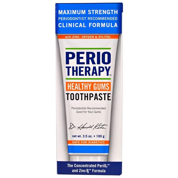 TheraBreath, ペリオ・セラピー健康な歯茎の歯磨き粉, 3.5 オンス (100 g)