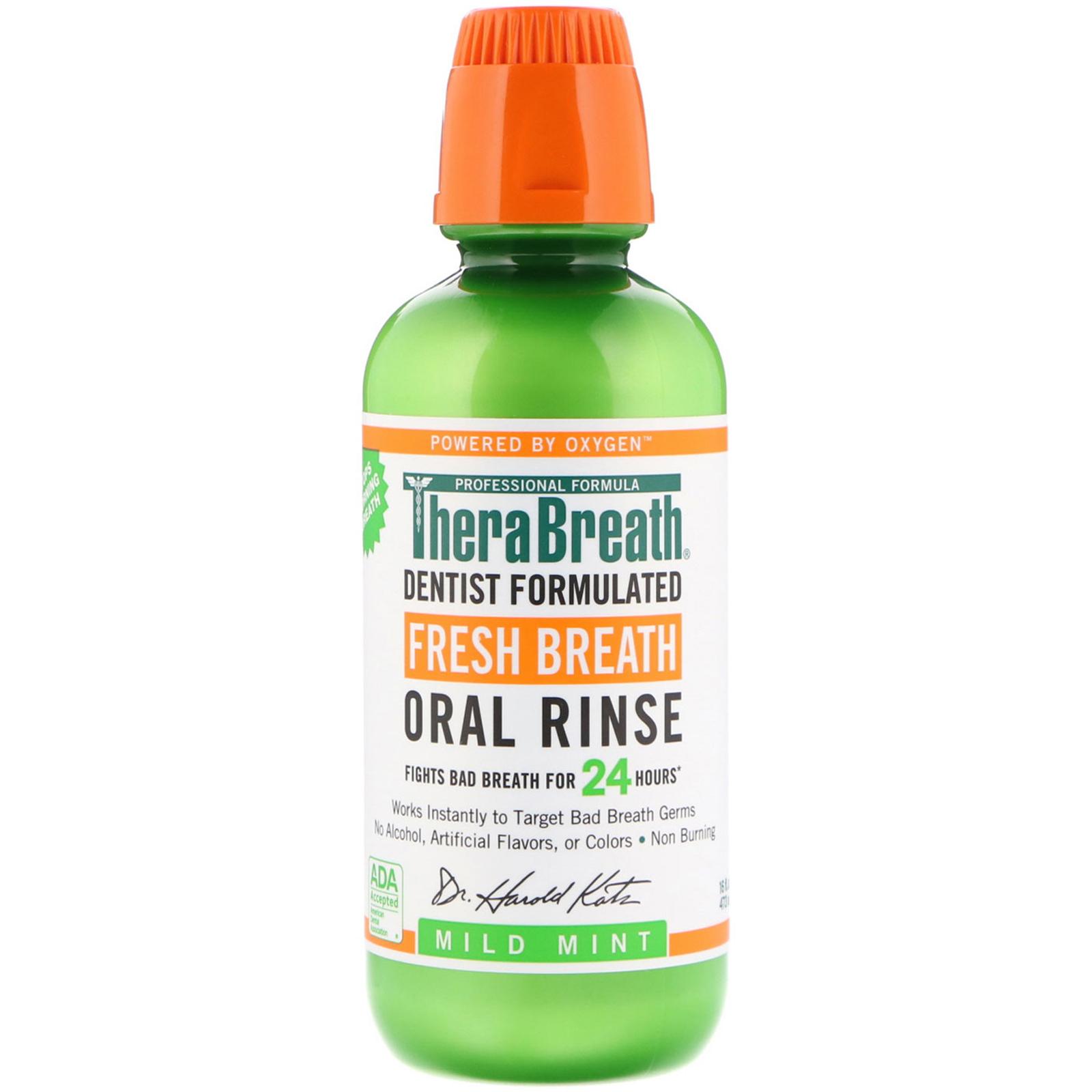 a3ae017014bf TheraBreath, Fresh Breath, Oral Rinse, Mild Mint, 16 fl oz (473 ml ...
