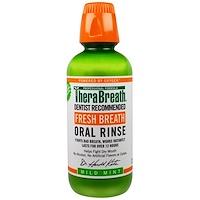 TheraBreath, 상쾌한 호흡, 구강 세정제, 부드러운 민트 향, 16 온스 (473 ml)