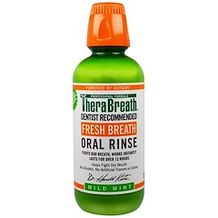 TheraBreath, Aliento Fresco, Enjuage Bucal, Menta Suave, 16 fl oz (473 ml)
