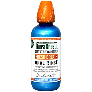 TheraBreath, Fresh Breath Oral Rinse, Invigorating Icy Mint Flavor, 16 fl oz (473 ml)